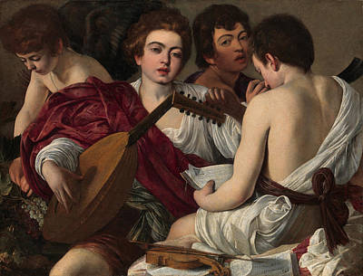 Caravaggio Painting - The Musicians by Caravaggio