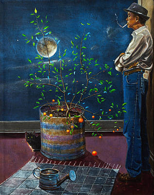 Cat Painting - The Mystery Writer by Robert Tracy