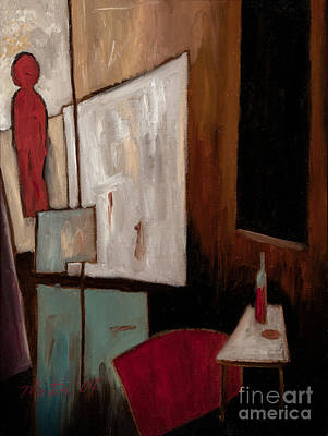 Depression Painting - The Naked Gallery by Larry Martin