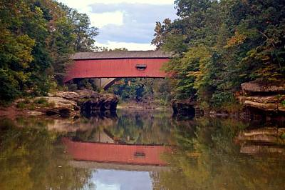 The Narrows Covered Bridge 4 Print by Marty Koch