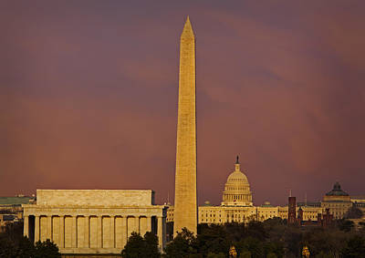The Nations Capitol Print by Susan Candelario