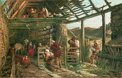 Ramshackle Painting - The Nativity, 1872 by William Bell Scott