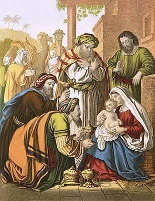 The Nativity Print by English School