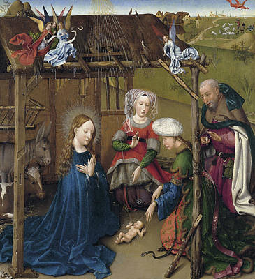 Jacques Daret Painting - The Nativity by Jacques Daret