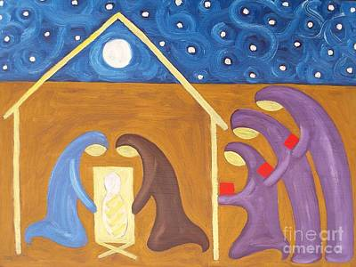 Giving Painting - The Nativity by Patrick J Murphy