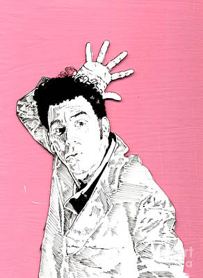 Cosmos Mixed Media - The Neighbor On Pink by Jason Tricktop Matthews