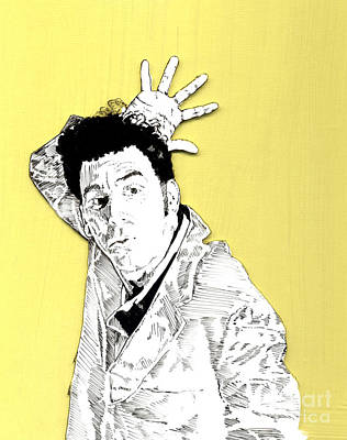 The Neighbor On Yellow Print by Jason Tricktop Matthews