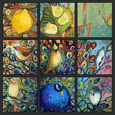 Abstract Lemons Painting - The Neverending Story Set Of 9c by Jennifer Lommers