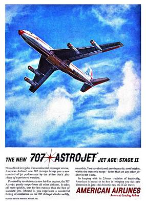 American Airlines Photograph - The New 707 by Benjamin Yeager