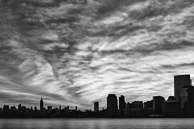 New York City Skyline Photograph - The New York City Skyline Awakens Bw by Susan Candelario