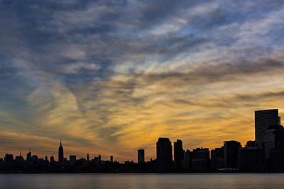 New York City Skyline Photograph - The New York City Skyline Awakens by Susan Candelario
