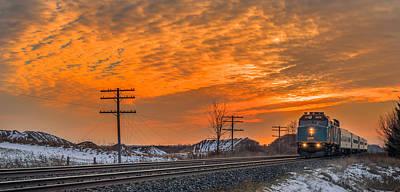 Night Photograph - The Night Train by Garvin Hunter