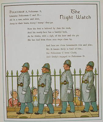 Law Enforcement Art Photograph - The Night Watch. Four Policeman by British Library