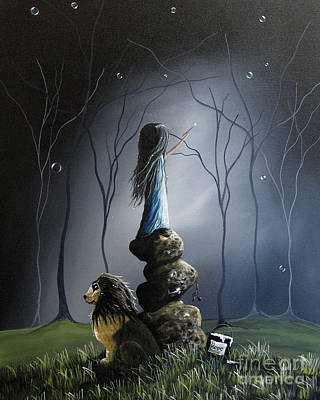 The Night Watchman By Shawna Erback Print by Shawna Erback