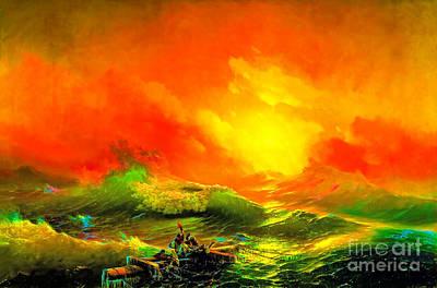 Man Painting - The Ninth Wave by Viktor Birkus