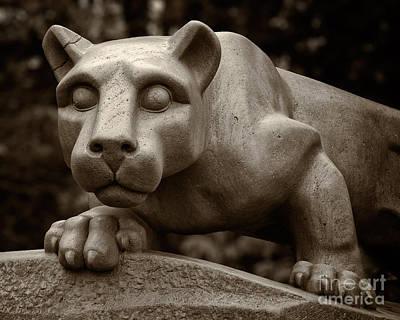 Collegiate Photograph - The Nittany Lion Shrine by Mark Miller