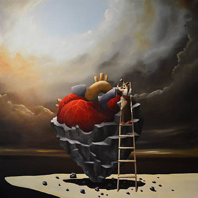 Heart Images Painting - The Noble Art Of Starting Over Again II by Ric Nagualero