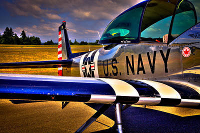 Airplane Engine Photograph - The North American L-17 Navion Aircraft by David Patterson