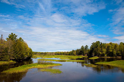 Hdr Photograph - The North Branch Of The Moose River by David Patterson