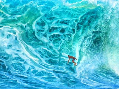 Haleiwa Painting - The North Shore Optimist by Dominic Piperata
