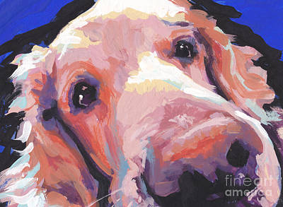 Golden Retriever Pop Art Painting - The Nose Knows by Lea S