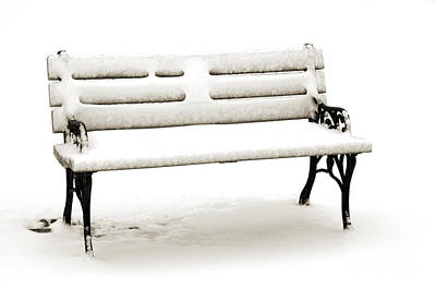 Park Benches Photograph - The Not So Hot Seat by Andee Design