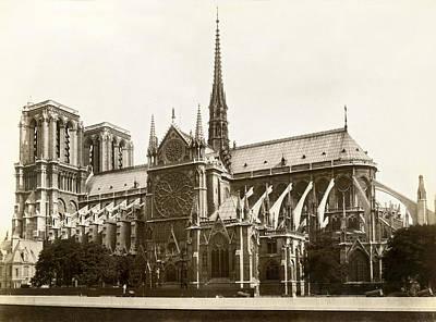 World Capitals Photograph - The Notre Dame De Paris by Jules Hautecoeur