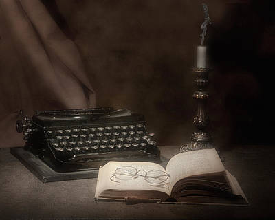 Typewriter Photograph - The Novelist Still Life by Tom Mc Nemar