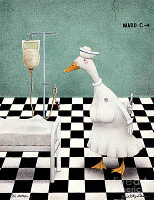 The Nurse... Print by Will Bullas