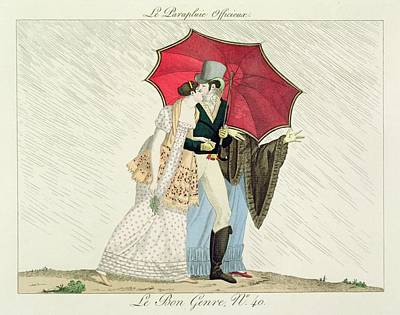 The Obliging Umbrella, Plate 40 From Le Print by French School