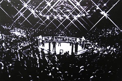 Ufc Painting - The Octagon by Geo Thomson