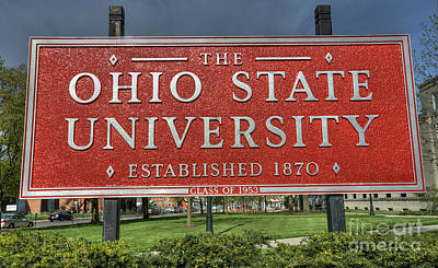 The Ohio State University Print by David Bearden