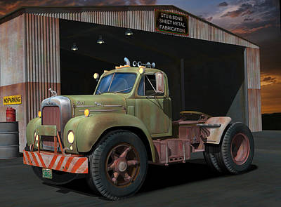 Old Trucks Digital Art - The Ol' Bulldog by Stuart Swartz