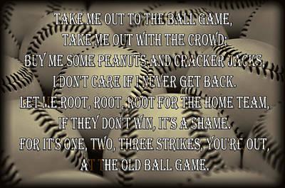 The Old Ballgame Print by Ricky Barnard