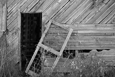 The Old Barn Print by Mary Ely