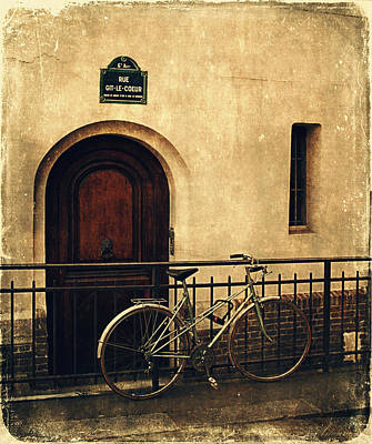 The Old Bicycle  Print by Maria Angelica Maira