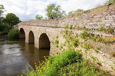 The Old Bridge Across The River Avon Print by Ashley Cooper