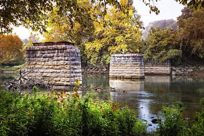 The Old Bridge Print by Debra and Dave Vanderlaan