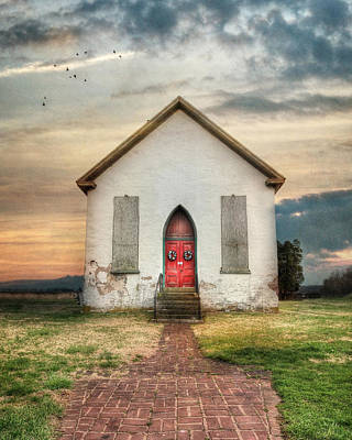 The Old Church Print by Lori Deiter