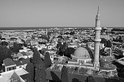 Panoramic Photograph - The Old City Of Rhodes by George Atsametakis