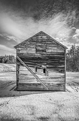 The Old Corn Crib Print by Edward Fielding
