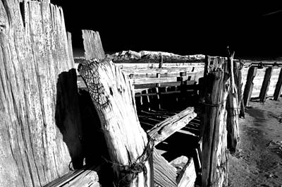 Mining Photograph - The Old Corral by Cat Connor