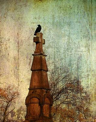 Graveyard Digital Art - The Old Cross by Gothicolors Donna Snyder