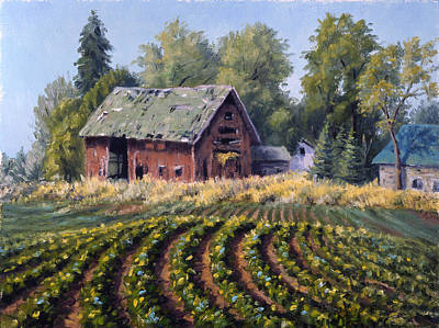 Green Beans Painting - The Old Farmstead by Rick Hansen