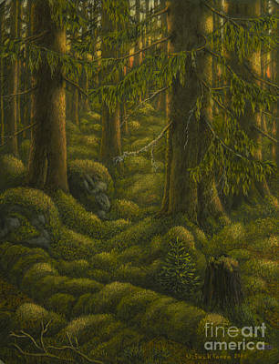 The Old Forest Print by Veikko Suikkanen