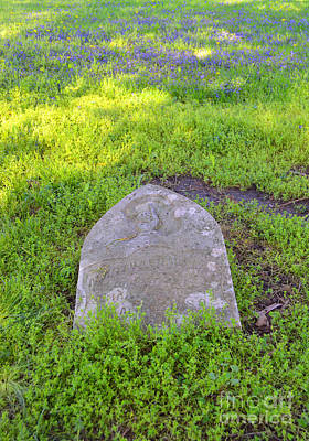 Indiana Photograph - The Old Gravestone by Alys Caviness-Gober