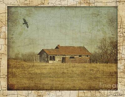 Judy Wood Digital Art - The Old Homestead by Judy Wood