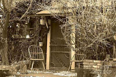 The Old House In Genoa Nevada Print by Artist and Photographer Laura Wrede