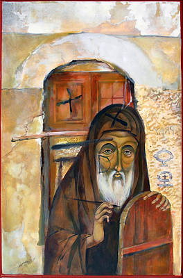 Catholic For Sale Painting - The Old Iconogragher by Mary jane Miller