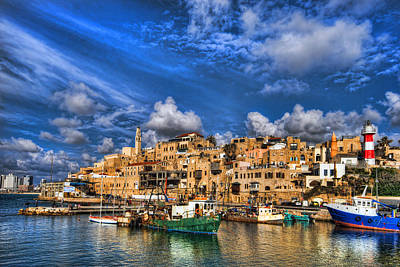 Beautiful Lighthouses Photograph - the old Jaffa port by Ron Shoshani